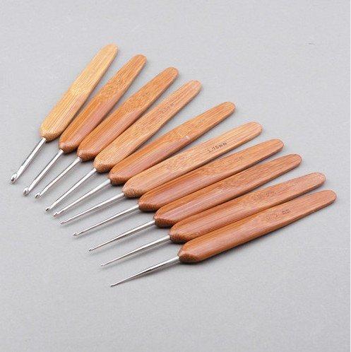 Click duvet 13,5 cm en bambou et métal crochets tricot aiguilles à tricoter Kits 0,75 mm) -10pcs 3,5 mm