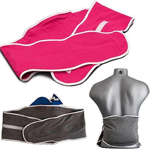 Wärmflaschenbezug - Tragegürtel für Wärmflasche 2 Liter | grau meliert | Gürtel zum Umbinden einer Wärmflasche
