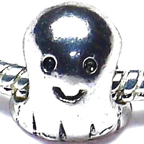 Charm-Perle für Pandora Style Armbänder, Motiv Gespenst / Halloween / Casper
