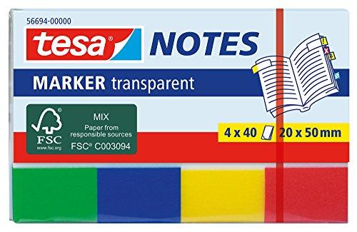 tesa® Notizblätter, 4 x 40 Blätter