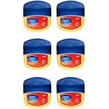 Vaseline BlueSeal Nourishing Skin Jelly 1.7oz (50ml) Jar with Vitamin E (Pack of 6)