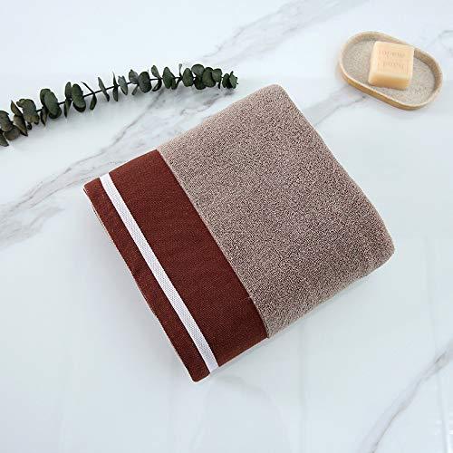 CXBHB Weiches Home saugfähiges Handtuch, Kontrastfarbe, Baumwolle Handtuch, Coffee, 70 * 140