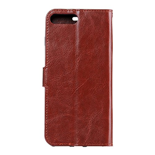Wkae Case Cover Für iPhone 6 Plus &6s Plus-Crazy Horse Textur Horizontal spiegeln Ledertasche mit Magnetschnalle &Halter &Card Slots &Wallet &Bilderrahmen ( Color : Green ) Brown
