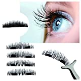 Magnetic Eye Lashes ,Fuibo Ultra-thin 0.2mm Reusable 3D False Magnet Eyelashes