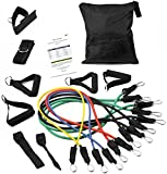 BalanceFrom P16 Heavy Duty Premium Resistance Band Kit with Safe Door Anchor/Ankle Strap/Carrying Case