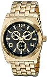 Joshua Sons &-Orologio da uomo al quarzo con Display analogico e braccialetto in metallo dorato JS93YGB