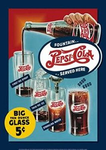 pepsi-cola-big-ten-ounce-glass-12-x-16-metal-sign-by-pepsi