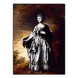 zxddzl Leinwand Dekorative Bild Wandkunst Poster Leinwand Malerei Europäischen Gericht Ölgemälde Dame Malerei 50x70 cm KEIN Rahmen YH3341