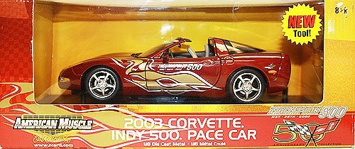 American Muscle 2003 Corvette indy 500 Pace Car 1:18 Scale Die Cast Metal Car by ERTL (Diecast Car Indy)