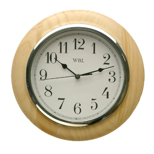 traditional-light-wood-wall-clock-chrome-arabic-dial