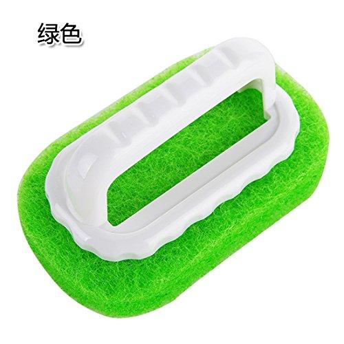 KXZDAS Starke Dekontamination Schwamm mit Griff Nicht zu verletzen die Hand Badewanne Bodenfliese/-Bürste reinigen Reinigung Dusche