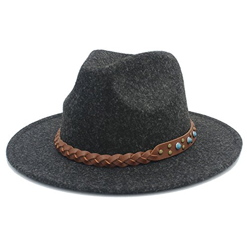 Breiter Sonnenhut, Frauen Chapeu Feminino Fedora Hüte für Gentleman Woolen Breiter...