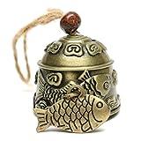 Demino Chinesischer Drache/Fisch-Muster Hang Auto Wind Chime Fortune-Zink-Legierung Wind Bell mit Hanfseil Fisch
