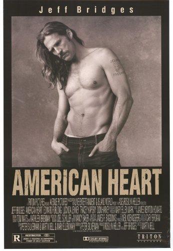 American Heart poster Movie B 11x 17pollici-28cm x 44cm Jeff Bridges Edward Furlong Lucinda Jenney Tracey Kapisky Don Harvey Margaret Welsh