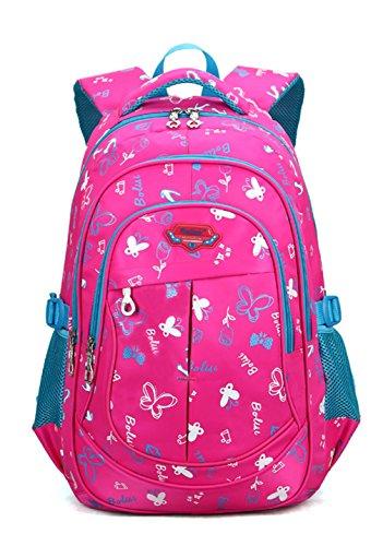 Keshi Leinwand Niedlich Schulrucksäcke/Rucksack Damen/Mädchen Vintage Schule Rucksäcke mit Moderner Streifen für Teens Jungen Studenten Rosa