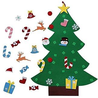 Shanke DIY arbol de Navidad Artificial de Fieltro Y Colgante Navidad Adornos Navidad