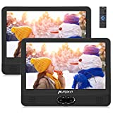 Pumpkin 12' DVD Portátil Coche 2 Pantallas, Reproductor para Reposacabezas de Coche para Niños en Viaje...
