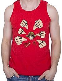 GIOVANI & RICCHI Herren Ruffy Luffy Pirat Piratenkönig Fitness Shirt Tank Top Muskelshirt in verschiedenen Farben
