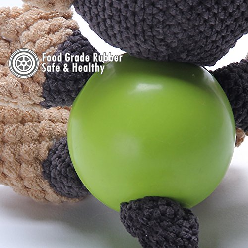 ubest-Dog-Squeaky-Soft-Toys-with-Strong-Balls-4-Characters-Monkey