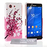 Yousave Accessories® Compact Custodia in Silicone Gel per Sony Xperia Z3, Rosa