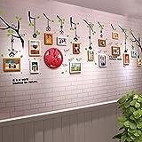 UILS 15 Schachteln Kinderzimmer Echte Holzrahmen Wand Einfache Moderne Fototapete Wohnzimmer Gänge Restaurant Büro Dekoriert Große Wand Bilderrahmen Wand (Farbe : #3)