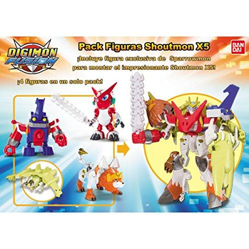 Bandai Digimon - Pack 4 Figures Digifusion