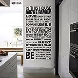 zooarts casa casa regla pegatinas de pared removible Vinilo Adhesivos Arte decoración hogar sala Mural
