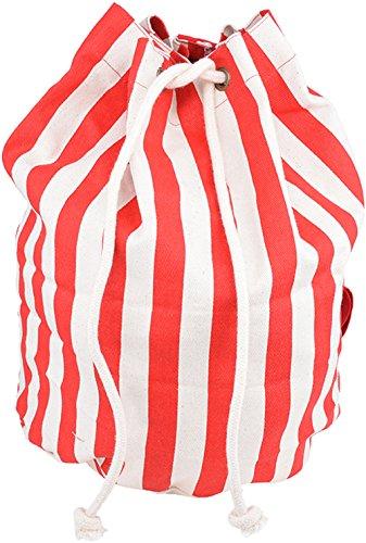 Simpatica Striscia Retrò Rossa A Strisce Anni 50 / Borsa - Rosso Rockabilly Ts3674 Rosso Con Strisce Bianche