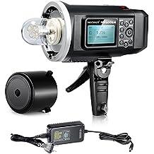 Neewer® 600W GN87 HSS Al Aire Libre Luz De Flash Estroboscópico con 2.4G Sistema inalámbrico & 8700mAh Batería para proporcionar 500 flashes Completos de energía de reciclaje en 0.01-2.5s Montaje Bowen NW600BM(reemplazo para Godox AD600BM)