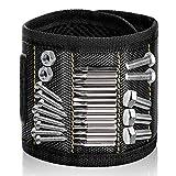 Wristband Magnético Con Los 15 Imanes Fuertes Magnético Pulseras para Ahorra las Manos Fija Fácilmente Tornillos Clavos Brocas Pernos para Hombres y Maquinaria Negro