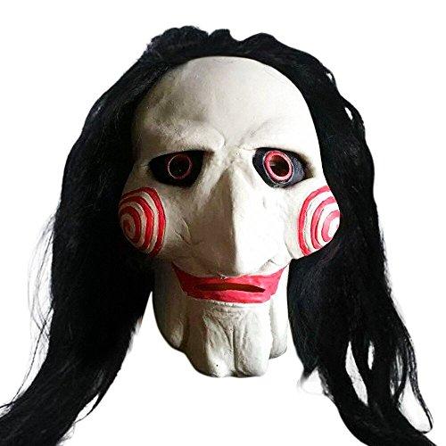 Unheimlich Sexy Kostüm Clown - QHJ Halloween Kostüm Party Maske Neuheit Naturlatex Gruselige gruselige hässliche Halloween Maske Helloween Kostüm Party (E)
