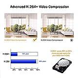 ANNKE WiFi Überwachungskamera-Set 8CH 1080P Wireless NVR System mit 4PCS 1080P WLAN Außen Kamera und 1TB Festplatte eingebaut für Innen und Außen, Onlinezugriff, Bewegungserkennung mit E-Mail-Alarm - 4