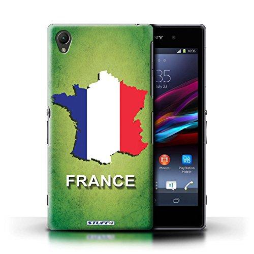 Kobalt® Imprimé Etui / Coque pour Sony Xperia Z1 / Amérique/Américain/USA conception / Série Drapeau Pays France/Français