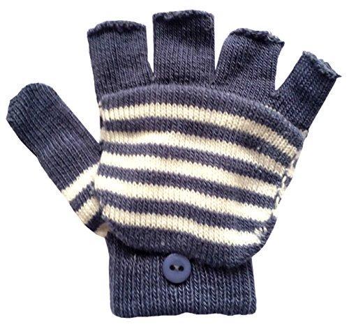 Mädchen Magic Fäustling Fingerlose Handschuhe mit Fold Over, One size, verschiedene Farben Blau Blau (Magic Gloves Damen)