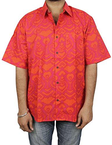 remium Indische Gedrückt, Hawaiian Print Strand-Shirt Aus Baumwolle für Männer (Hawaiian Mann Kostüm)