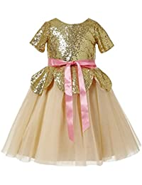 d2f71289c7 Sequined Girls' Dresses: Buy Sequined Girls' Dresses online at best ...