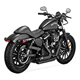 Auspuff Marmitte Shortshots Staggered Vance & Hines 47229 Neri x Harley Davidson Sportster XL, Superlow XL883L, Sportster 883R, Iron 883 XL883N, Forty-Eight XL1200X, Seventy-Two XL1200V, 1200 Custom XL1200C, Roadster XL1200CX, Superlow 1200T XL1200T DAL 2014 OGGI 14-UP