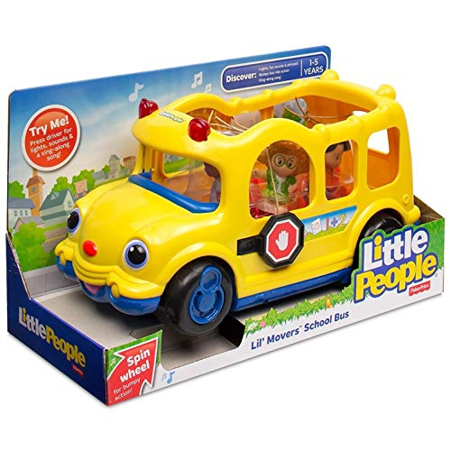 Little People Fisher Price Lil' Movers School Bus - Musical Stop and Go Schulbus (Little People-spielzeug-bus)