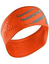 Compressport Headband On/Off Cinta, Unisex, Naranja flúor, Talla Única