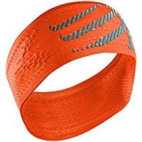 COMPRESSPORT Headband On/Off Cinta, Unisex, Naranja flúor, Talla Única