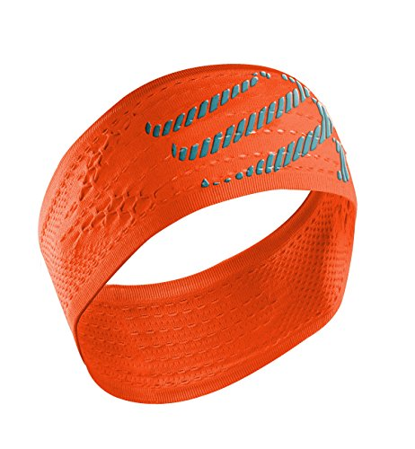 Compressport Headband On/Off - Cinta de cabeza unisex, color naranja, talla única