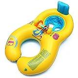 Anillo De Natación Del Bebé Para Los Niños Silla De La Silla De Los Niños Flotadores Inflables De La Nadada Ayudas De La Seguridad En Piscinas De Acolchado (amarillo con azul)
