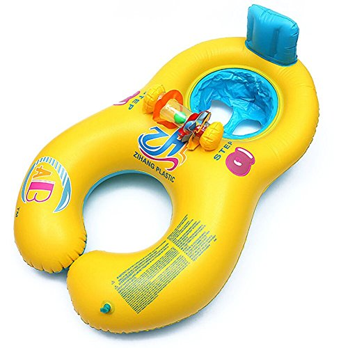 Gonflable Baby & Mommy Seat Pool Toy Float, Baby Pool Float, Swim Ring Pool Lake, anneau de bain gonflable, pour piscine, piscine, piscine Montages flottants, piscine, piscines Lit gonflable flottant, jouet gonflable Avec vannes rapides...