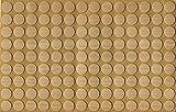 KwikCaps® PVC Mandal Ahorn Selbstklebende Schrauben-Abdeckungen Abdeckkappen Nägel Cam flach [126 Stk. x 13 mm Durchmesser]