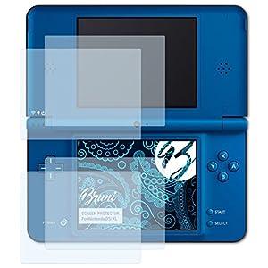 Bruni Schutzfolie kompatibel mit Nintendo DSi XL Folie, glasklare Displayschutzfolie (2er Set)