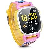 Tencent PQ708 - Smartwatch Reloj Infantil Inteligente Localizador (GPS, LBS, SOS, Llamada SIM Para Android IOS), Rosado