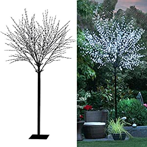 Tronje LED Baum Kirschblüten 350 cm - 1200 LEDs Kirschblütenbaum kaltweiß Deko Lichterbaum Leuchtbaum Außen