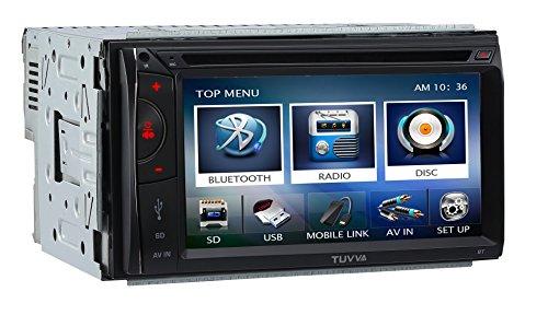 """TUVVA KSD6102 Autoradio 2-DIN 6.1"""" Kapazitiver Touch Bildschirm DVD / CD / USB / SD / AV IN / MP4 / MP3 Player Receiver RDS-Radio Bluetooth Audio Streaming Freisprech Anrufe mit Fernbedienung"""
