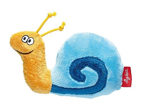 sigikid Hochet Escargot pour Bébé Garçon Bleu 12 cm