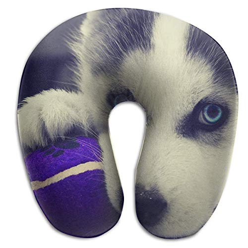 Nifdhkw Multifunctional Neck Pillow Puppy Husky U-Shaped Soft Pillows Portable for Sleeping Travel Multicolor11
